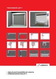 Technické listy rolovací vrata (pdf - 1,19 MB) - LOMAX & Co s.r.o.
