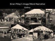 Kiran Pillay's Image/Word Narrative