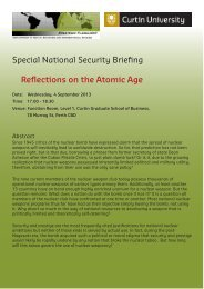 Special National Security Briefing Reflections on the Atomic Age