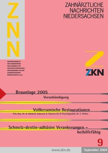 ZNN 7+8/2004, S. 38-41 - Zahnärztekammer Niedersachsen