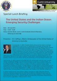Special Lunch Briefing The United States and the ... - Humanities