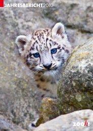 Jahresbericht 2010 -  Zoo Zürich