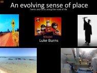 An evolving sense of place