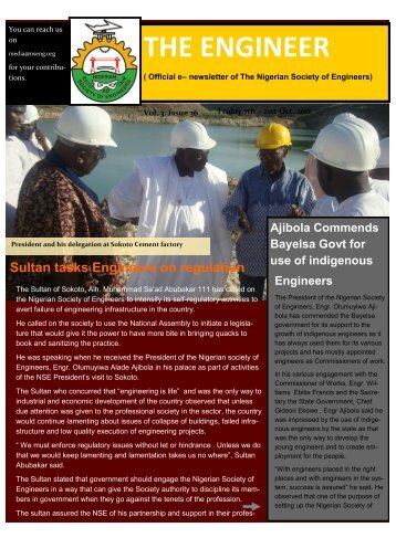 THE ENGINEER - Nigerian Society of Engineers