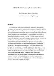 Hiroe Kobayashi and Carol Rinnert - Humanities