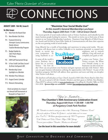 Eden Prairie Chamber of Commerce You're Invited to..