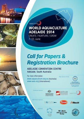 Call for Papers & Registration Brochure - Aquaculture