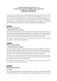 Menkul Kıymet Yatırım Fonları - Kuruluş İç Tüzük ... - Garanti Emeklilik