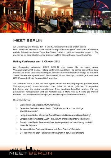 Meet Berlin Einladung - Besondere Orte