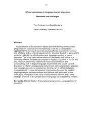 Toni Dobinson and Paul Mercieca - Humanities - Curtin University