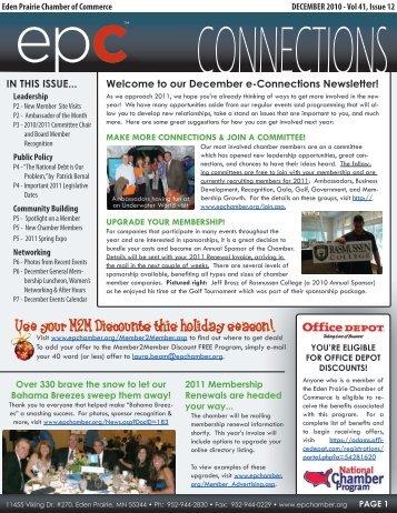 December 2010 - Eden Prairie Chamber of Commerce