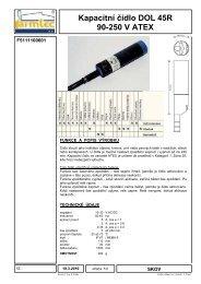 Kapacitní čidlo DOL 45R 90-250 V ATEX