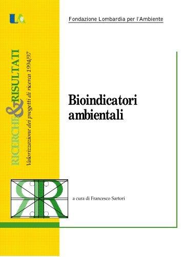 Bioindicatori ambientali