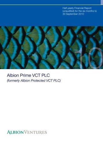 Albion Prime VCT PLC