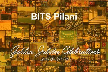 to see the Golden Jubilee Celebrations brochure - BITS Pilani