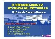 IX SEMINARIO ANDALUZ DE CIRUGÍA DEL PIEY TOBILLO