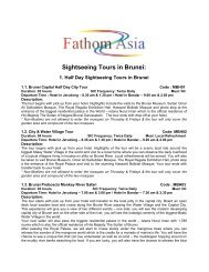 Sightseeing Tours in Brunei: - FathomAsia