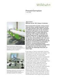 Presseinfo_Wilkhahn_100%design