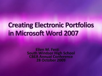 in Microsoft Word 2007