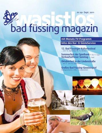 wasistlos badfüssing-magazin - Ausgabe September 2011