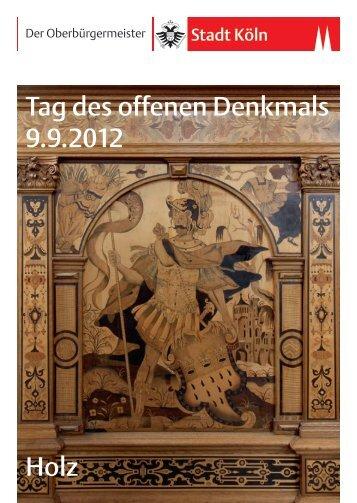 Tag des offenen Denkmals am 9. September 2012 - Stadt Köln