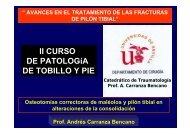 II CURSO DE PATOLOGíA DE TOBILLO Y PIE