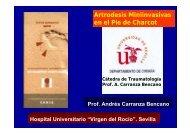 Artrodesis Miniinvasivas en el Pie de Charcot
