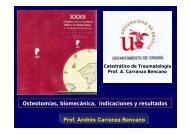 Osteotomias biomecánica indicaciones y resultados Prof Andrés Carranza Bencano