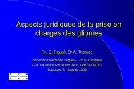 Aspects juridiques de la prise en charges des gliomes