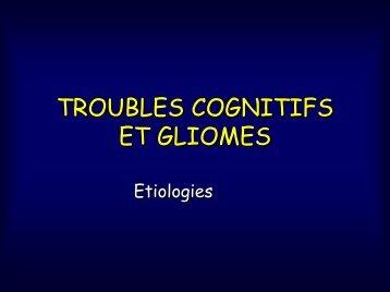 INTERET ETUDE TROUBLES COGNITIFS