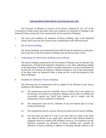 2. Manipur Industrial Estates Rules,1998 - Commerce & Industries ...