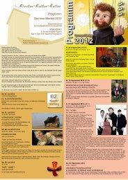 Sommer/Herbst 2012 Programm - Kloster-Kultur-Keller