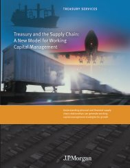 Treasury and the Supply Chain A New Model for Working Capital Management