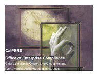 CalPERS Office of Enterprise Compliance
