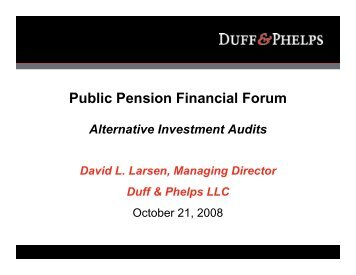 Public Pension Financial Forum