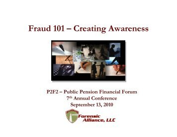 Fraud 101 –Creating Awareness