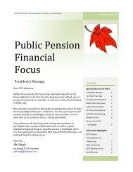 Public Pension Financial Focus