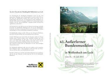 61. Außerferner Bundesmusikfest - Ausserferner Musikbund