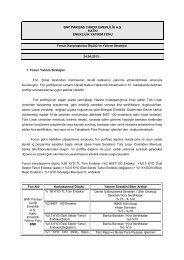 Fon Karşılaştırma Ölçütü ve Yatırım Stratejisi - BNP Paribas Cardif ...