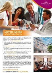 MEETING SUCCESS AT CROWNE PLAZA