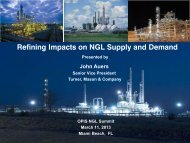 Refining Impacts on NGL Supply and Demand