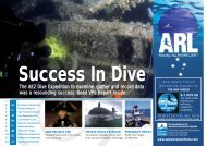 The AE2 Dive Expedition to examine, gather and record data was a ...