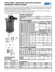 Centro-Matic Automated Lubrication Systems FlowMaster Electric Pumps