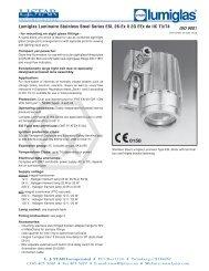 Lumiglas® Stainless Compact Light Series ESL 26-EX - L.J. Star, Inc.