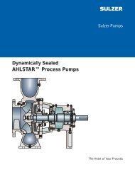 Dynamically Sealed AHLSTAR™ Process Pumps brochure pdf