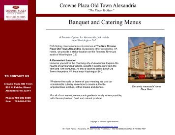 Banquet and Catering Menus