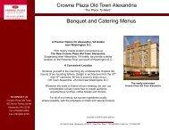 Banquet and Catering Menus - Alexandria VA Hotel