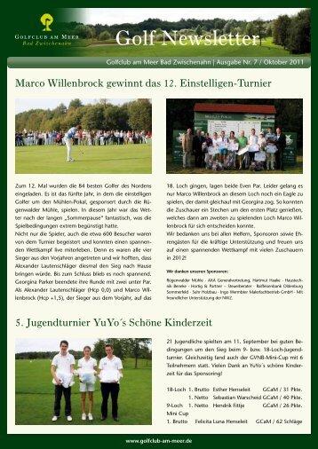 Newsletter Oktober 2011 - Golfclub am Meer - Bad Zwischenahn