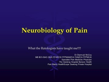 Neurbiology of Pain - DC Conferences