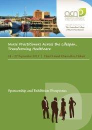 Sponsorship and Exhibition Prospectus